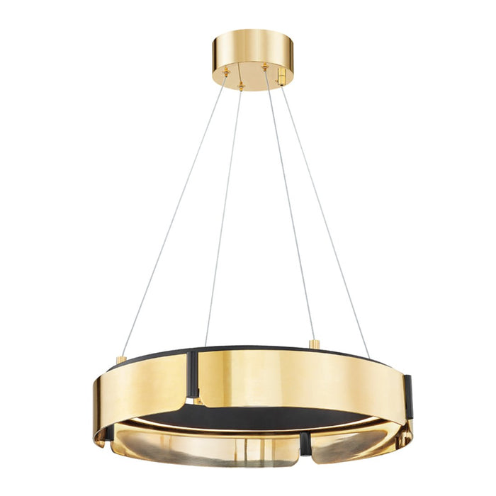 Tribeca Small Chandelier - Aged Brass/Black Finish