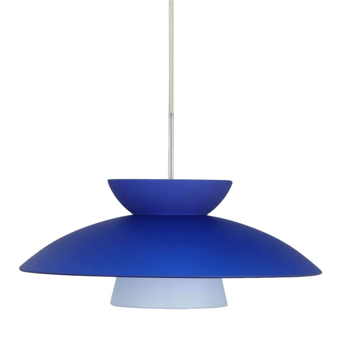 Trilo 15 Pendant Light Blue Matte