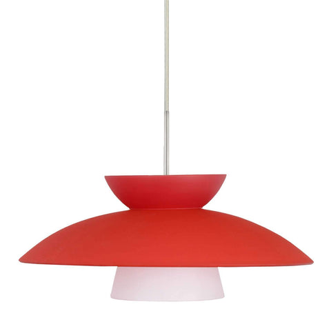 Trilo 15 Pendant Light Red Matte