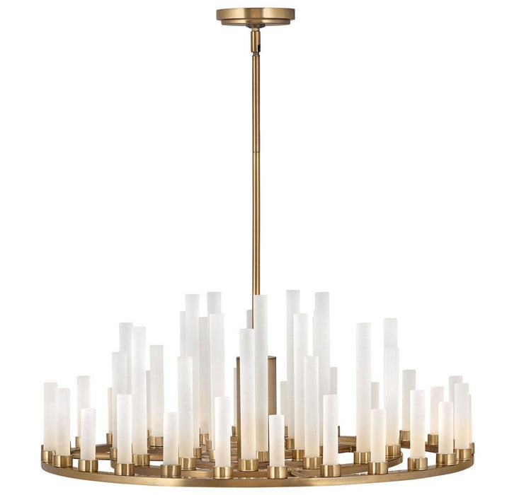 Trinity LED Chandelier - Heritage Brass Finish