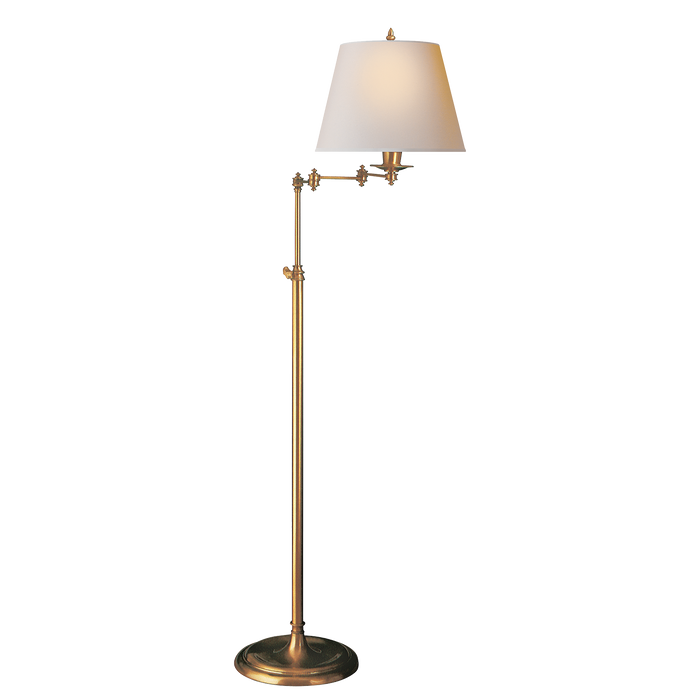 Triple Swing Arm Floor Lamp - Natural Paper Shade
