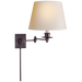 Triple Swing Arm Wall Lamp - Bronze Finish with Natural Paper Shade