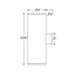 "Tube Architectural 8"" Double Wall Mount - Diagram"