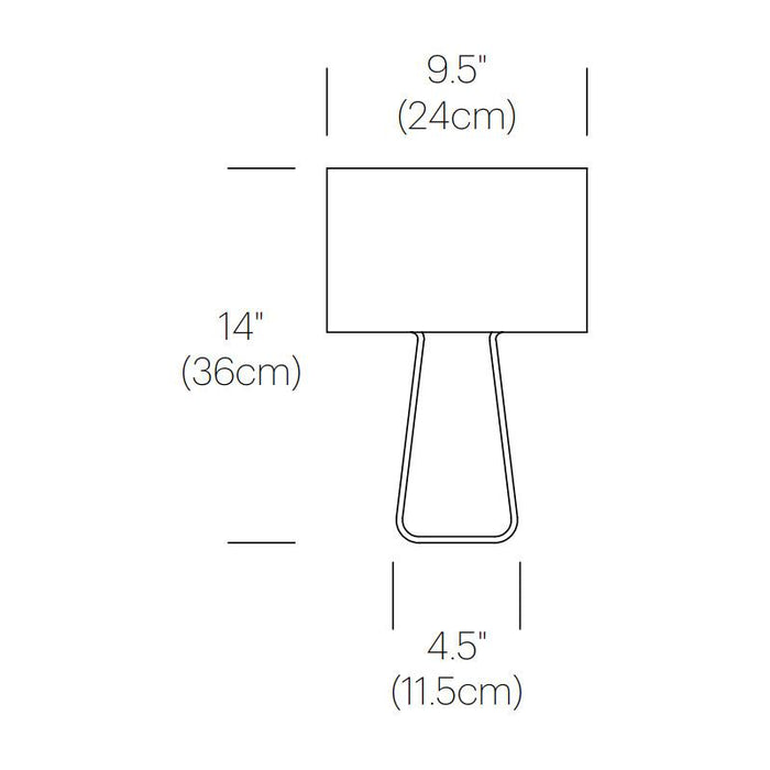 Tube Top Table Lamp - Diagram