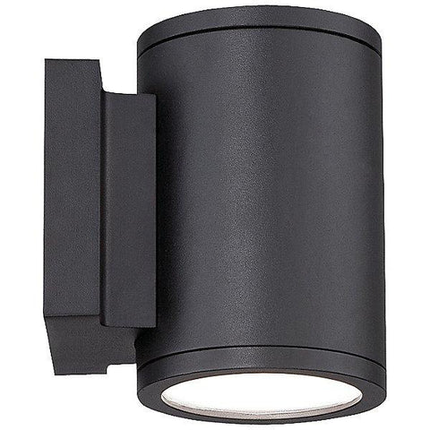 Tube Up and Down Outdoor Wall Light Black