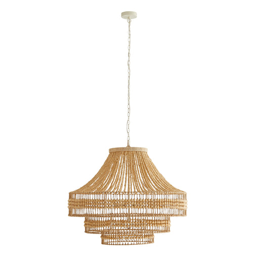 Tulane Chandelier - Natural Wood