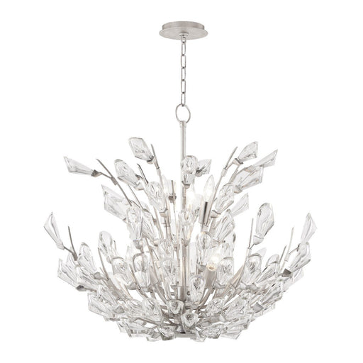 Tulip Medium Chandelier - Silver Leaf