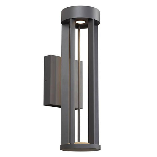 Turbo Outdoor LED Wall Sconce - Charcoal Finish