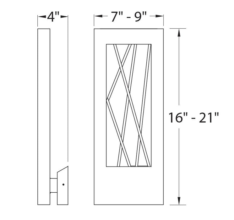 Twilight Outdoor Wall Light - Diagram