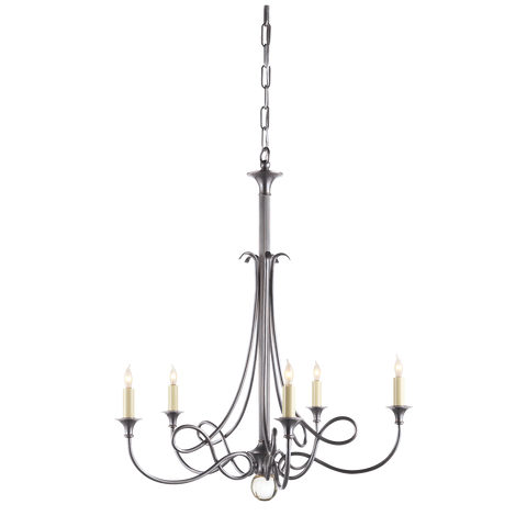 Twist Chandelier Antique Silver