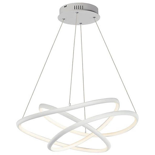Twisted Medium LED Pendant - Matte White