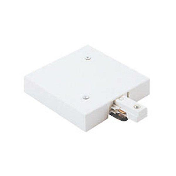 Two Circuit TBar End Feed Connector - White