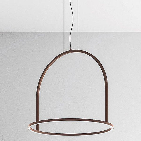 U-Light USULI LED Small Pendant Light Rust Brown