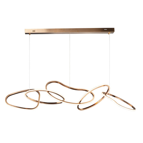 Unity Linear Pendant - Brushed Champagne