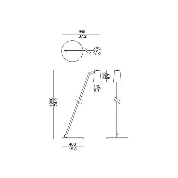 Up Floor Lamp - Diagram