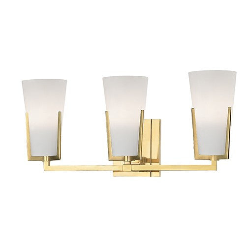 Upton 3 Light Bath - Aged Brass Finish