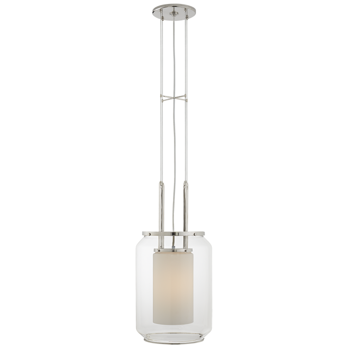 Upton Large Hanging Lantern - Polished Nickel