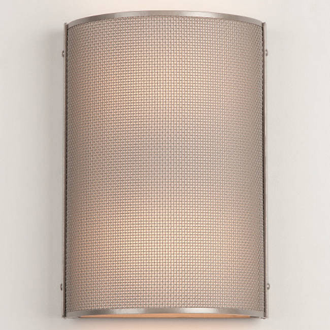Uptown Mesh Cover Sconce - Metallic Beige/Frosted Glass