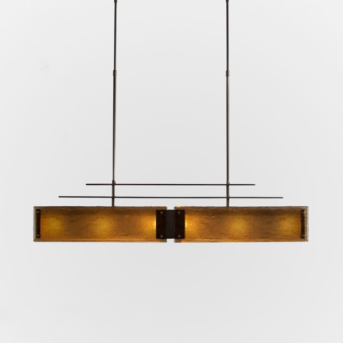 Urban Loft Parallel Linear Suspension Light - Oil Rubbed Bronze/Bronze Granite