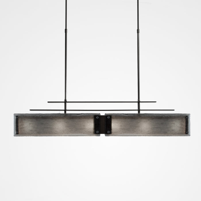 Urban Loft Parallel Linear Suspension Light - Gunmetal/Smoke Granite