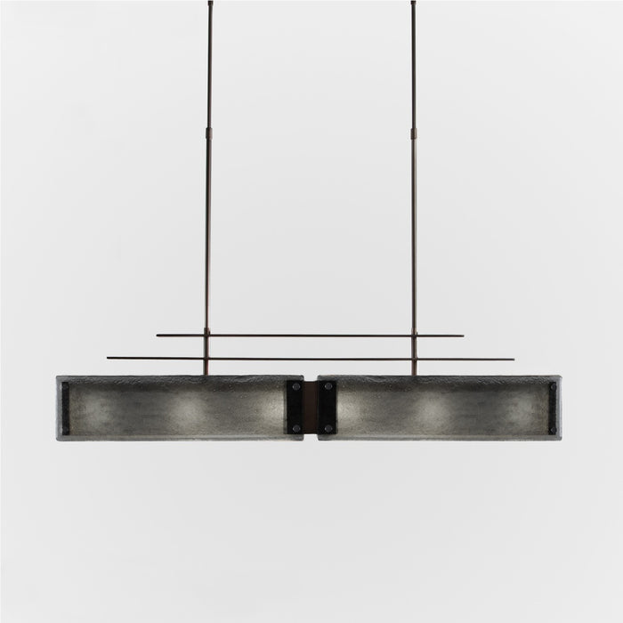 Urban Loft Parallel Linear Suspension Light - Oil Rubbed Bronze/Smoke Granite