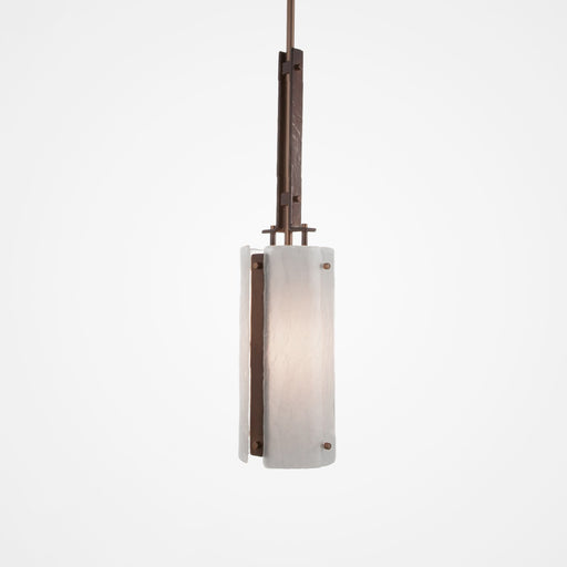 Urban Loft Trestle Pendant Light - Oil Rubbed Bronze/Frosted Granite