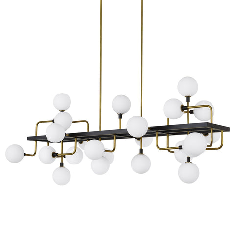 VIAGGIO LINEAR SUSPENSION Opal/Brass