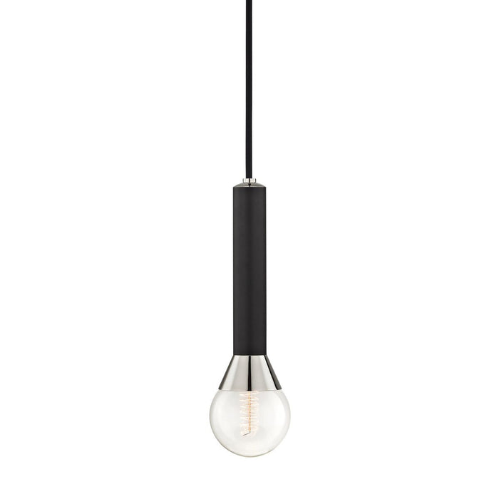 Via Mini Pendant - Polished Nickel/Black