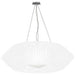 V Large Pendant - White Finish