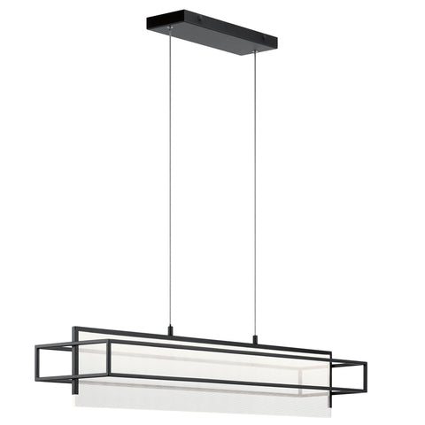Vega LED Linear Suspension - Matte Black