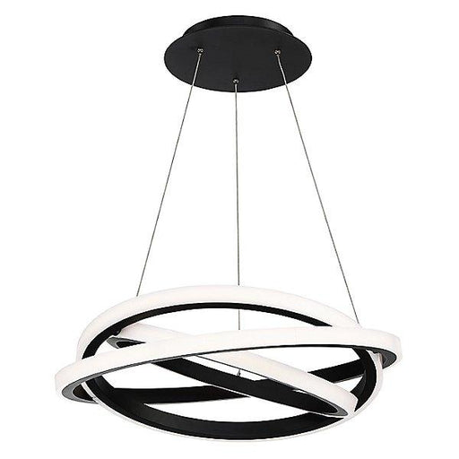 "Veloce 26"" LED Chandelier - Black Finish"