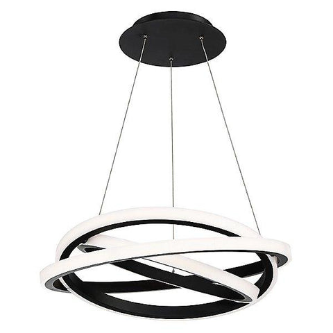 "Veloce 26"" LED Chandelier Black"