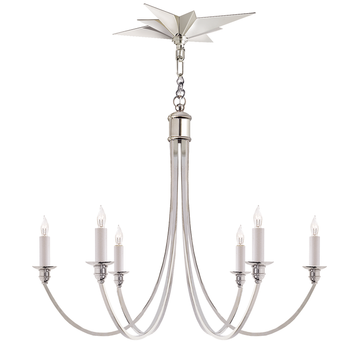Venetian Medium Chandelier Polished Nickel