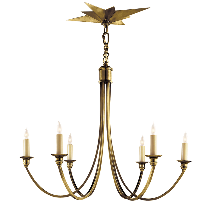 Venetian Medium Chandelier Hand-Rubbed Antique Brass