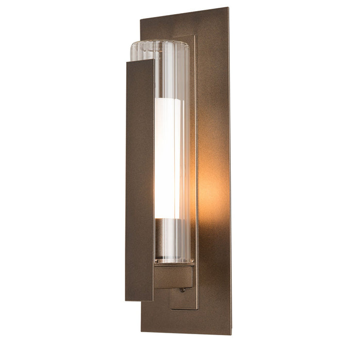 Vertical Bar Fluted Small Outdoor Wall Sconce - Coastal Bronze Finish
