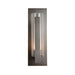 Vertical Bar Fluted Large Outdoor Wall Sconce - Coastal Dark Smoke Finish