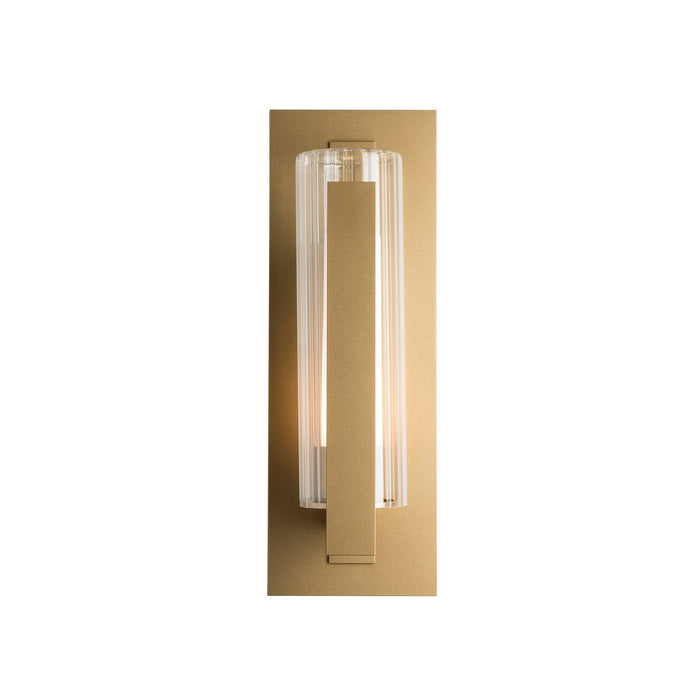 Vertical Bar Fluted Medium Outdoor Wall Sconce - Coastal Gold Finish