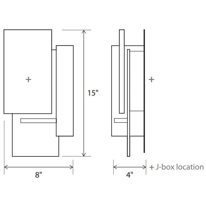Vesper LED Sconce - Diagram