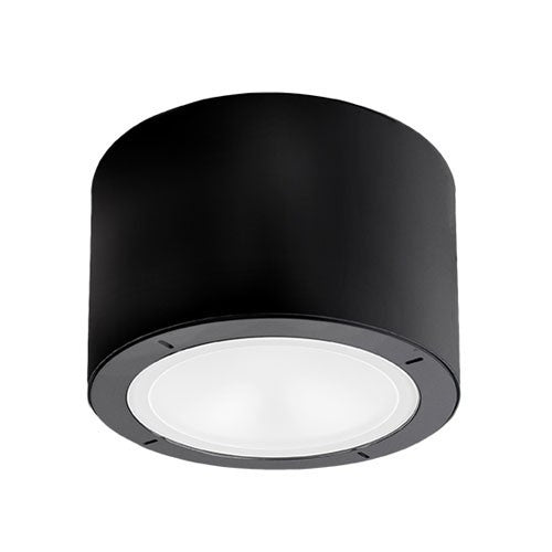 Vessel Outdoor LED Flush Mount Ceiling Light - Black