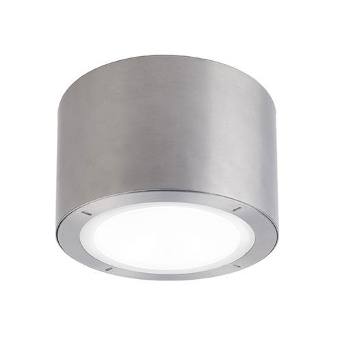 Vessel Outdoor LED Flush Mount Ceiling Light - Brushed Aluminum