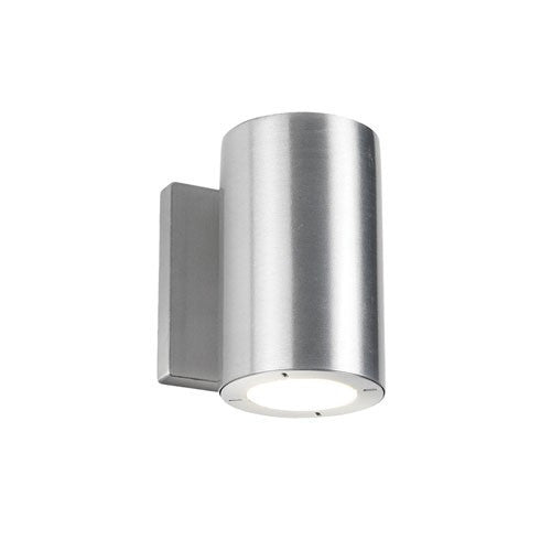 Vessel Short Outdoor LED Wall Light - Brushed Aluminum Finish