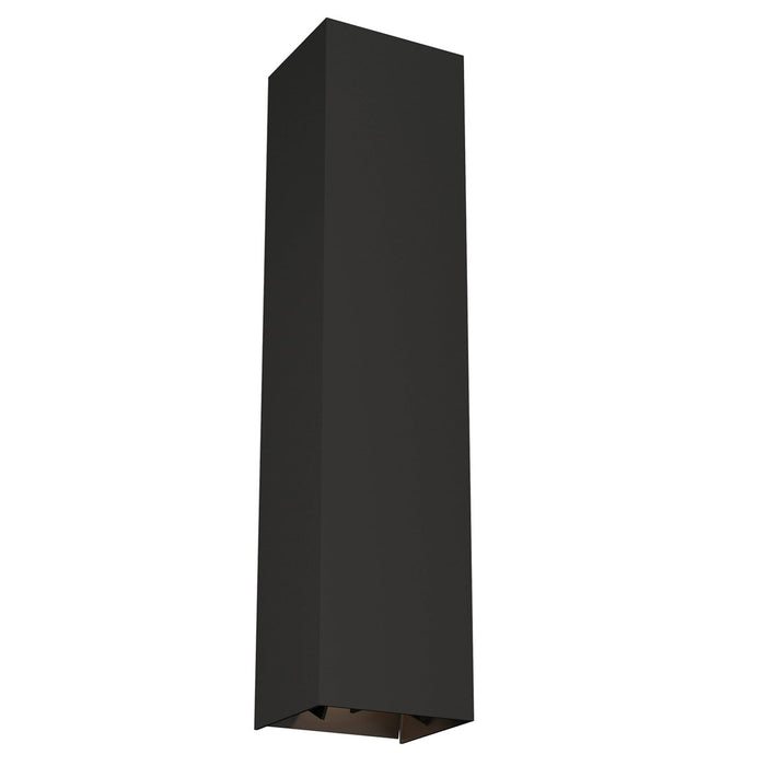 Vex Large LED Outdoor Wall Sconce - Black Finish