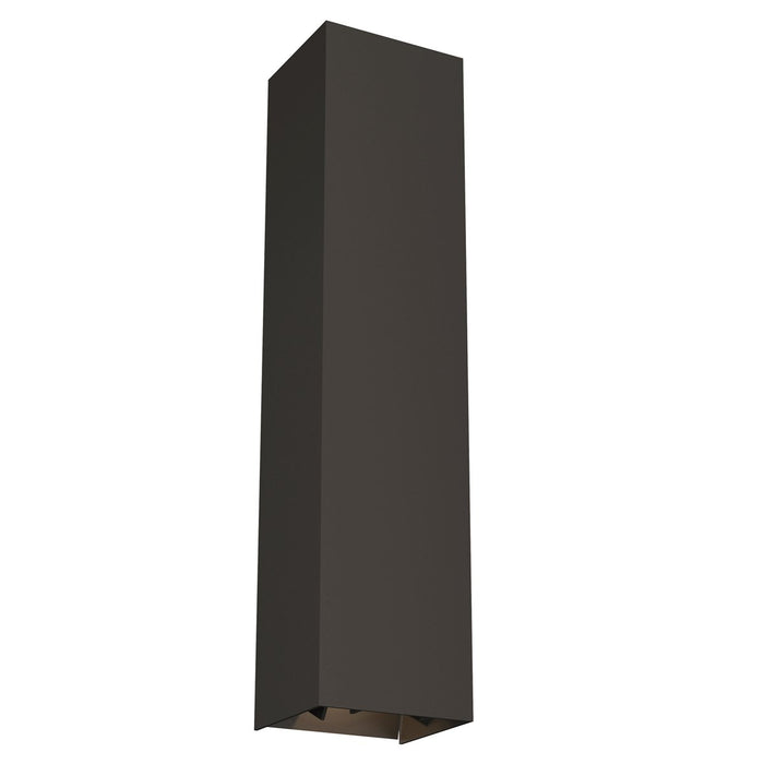 Vex Large LED Outdoor Wall Sconce - Bronze Finish