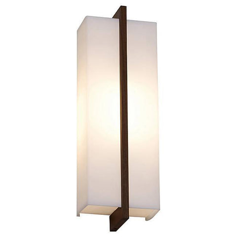Via Wall / Ceiling Light - Dark Stained Walnut Finish