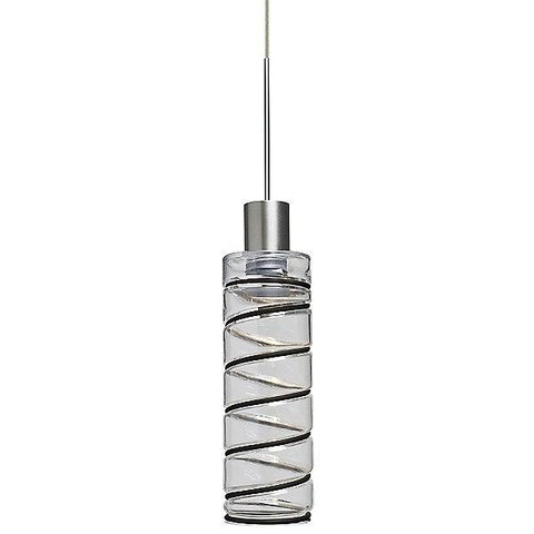 Vibe 8 Mini Pendant Light Clear/Satin Nickel