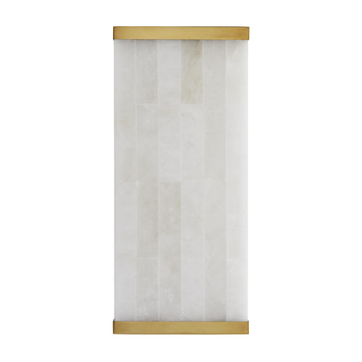 Vienna Sconce - Antique Brass Finish Snow Marble