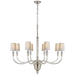 Vivian Large One-Tier Chandelier - Polished Nickel