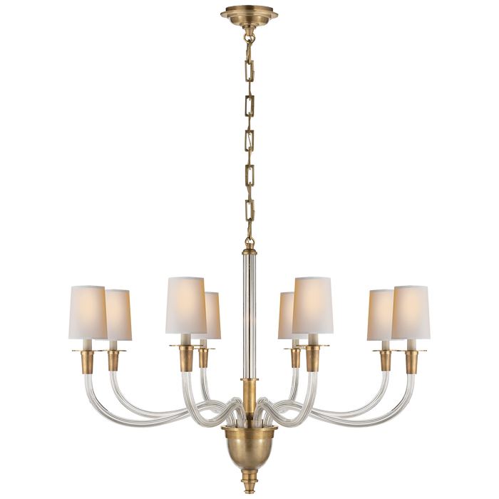 Vivian Large One-Tier Chandelier - Hand-Rubbed Antique Brass