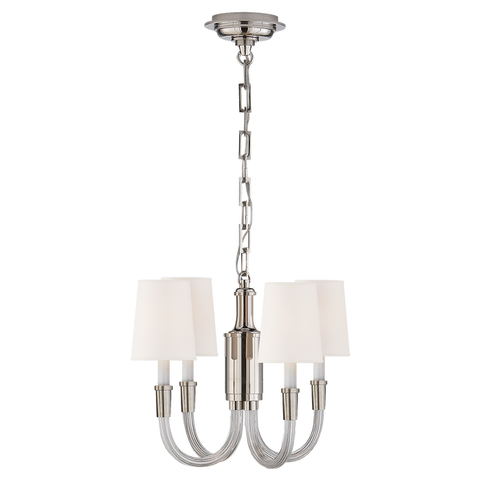 Vivian Mini Chandelier - Crystal with Polished Nickel