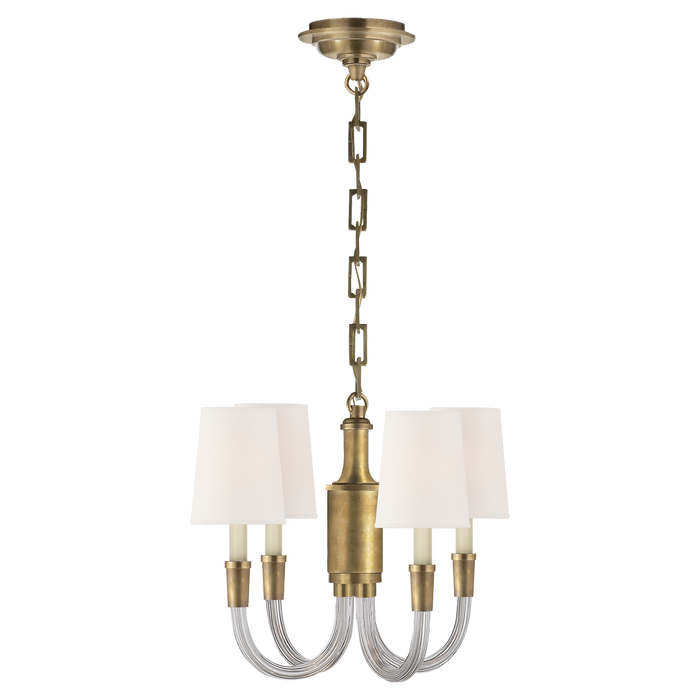 Vivian Mini Chandelier - Crystal with Brass
